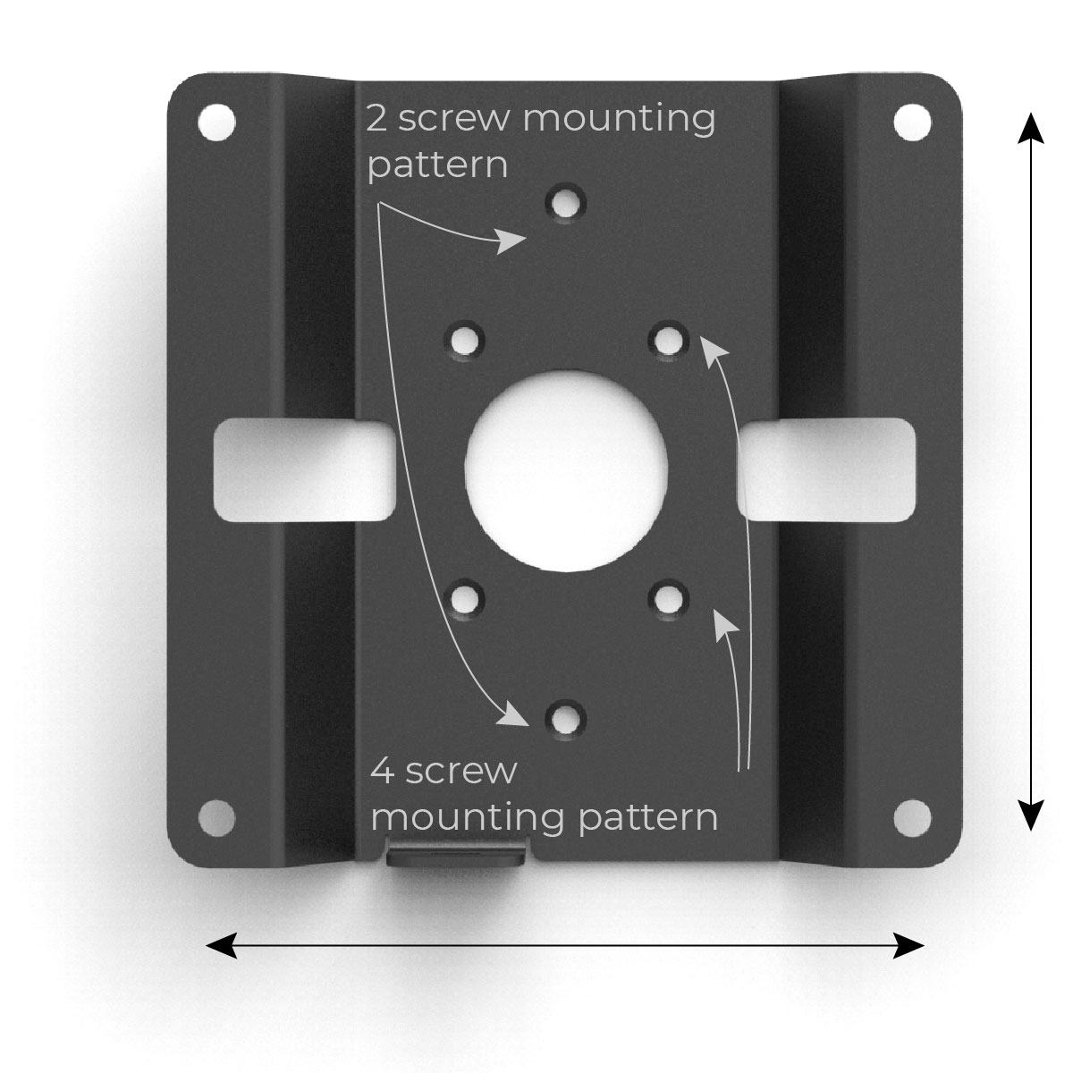 100x100 VESA mount